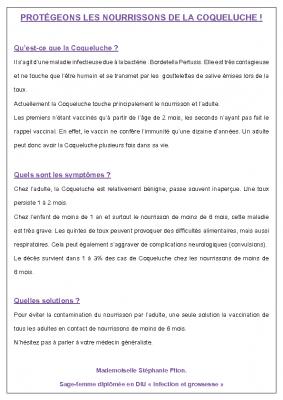 Information coqueluche